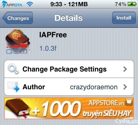Sử dụng IAPFree iOS 7 hack in-app purchase trong game và ứng dụng
