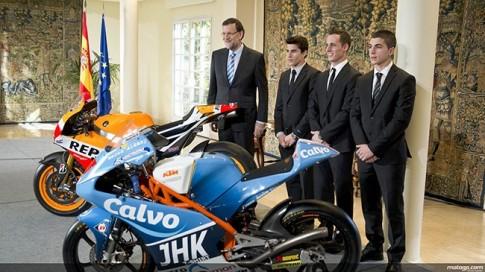 Thủ Tướng Tây Ban Nha tổ chức mừng công cho các tay đua MotoGP 2013
