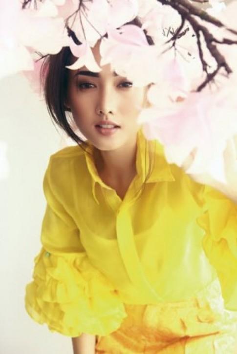 Tô Uyên Khánh Ngọc dịu dàng với váy gấm
