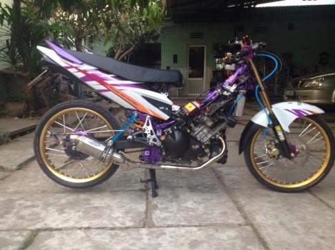 Yamaha Exciter Violet Drag Racing