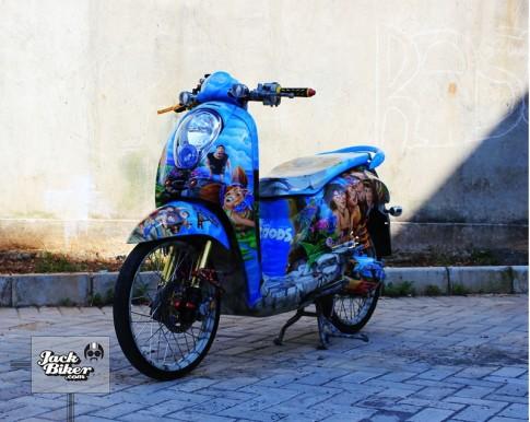 Yamaha Fino tu bo phim THE CROODS