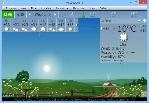 YoWindow 3S - phần mềm dự báo thời tiết mọi lúc mọi nơi