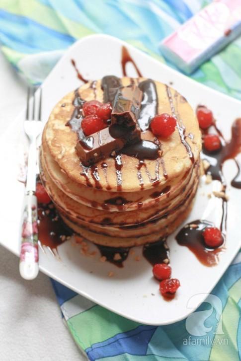 Bánh Pancake quế ngọt ngào ấm áp