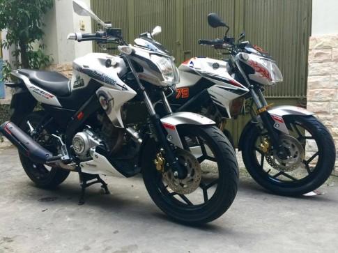 Cặp đôi Yamaha Fz150i độ đẹp ở Sài Gòn