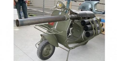 """""""Choáng"""" với xe vespa 150 TAP """"vũ khí quân sự"""" của Pháp"""