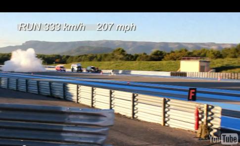 [Clip] Xế khủng đạt tốc độ 333km/h với 250m đầu tiên