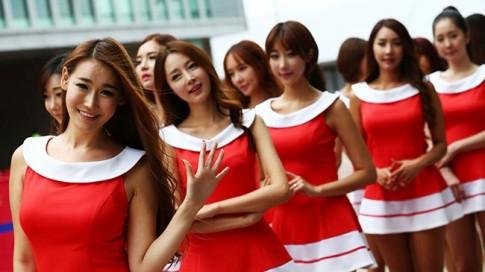 Dáng ngọc tại trường đua GP Hàn Quốc