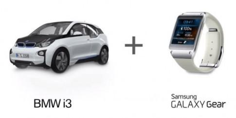 Điều khiển BMW i3 bằng đồng hồ Samsung Galaxy Gear