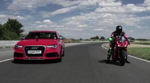 Ducati 1199 Panigale R vượt trội hơn hẳn so với xe Audi RS 6
