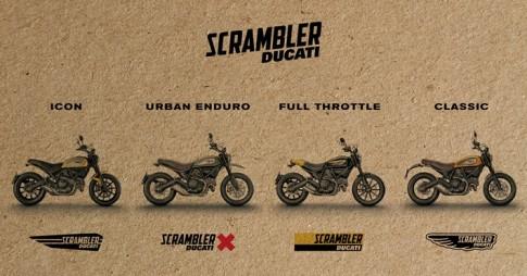 Ducati Scrambler cùng lúc ra mắt 4 phiên bản