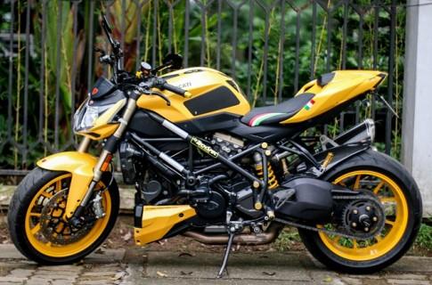 Ducati Streetfighter 848 màu vàng độc tại Hà Nội