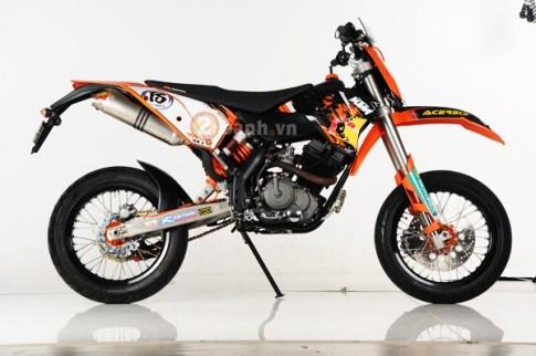 Satria F độ biến thể theo phong cách cào cào KTM EXC 250