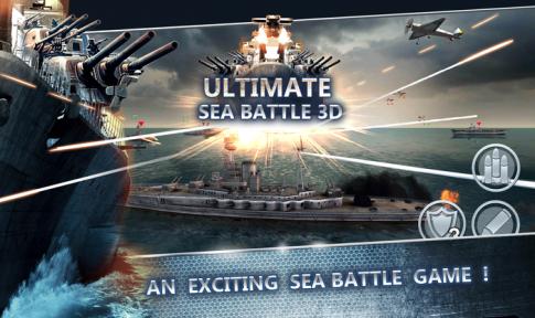 Thỏa sức bắn phá trong Sea Battle: Warships 3D