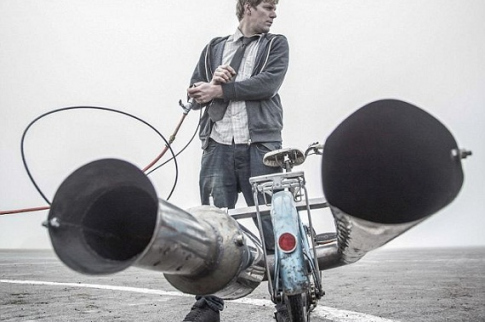 Xe đạp tự chế chạy trên 80km/h