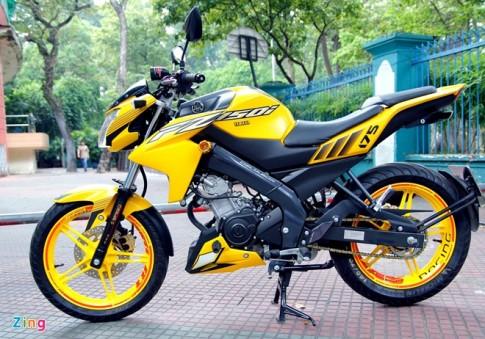 """Yamaha Fz150i màu vàng """"chói"""" tại Sài Gòn"""