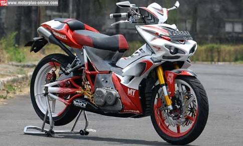 Honda Supra X 125 độ quái đản và hầm hố