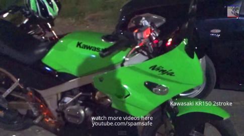 Màn đua Drag của Kawasaki Ninja 250r và Kr 150 2 thì