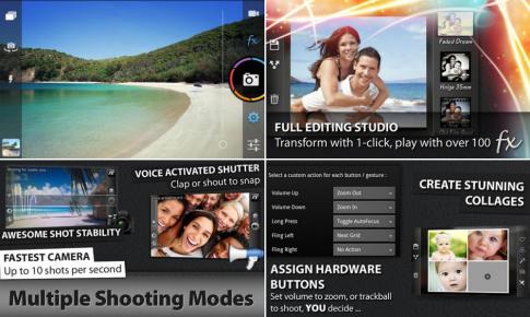 10 ứng dụng máy ảnh tốt nhất dành cho Android