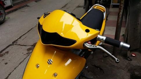 Suzuki FX độ mâm Raider độ áo vàng pô Leo