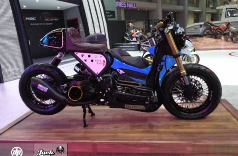 Honda Zoomer X do doc la voi phong cach Cafe Racer