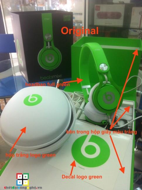 Phân biệt Beats Mixr Neon hàng Original và FAKE