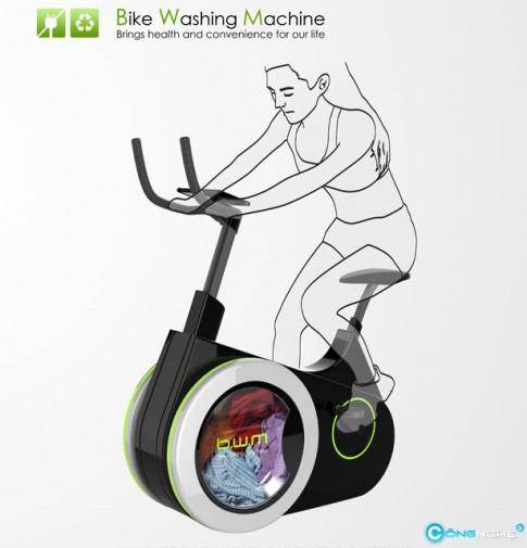 B.W.M Ý tưởng đạp xe để giặt đồ