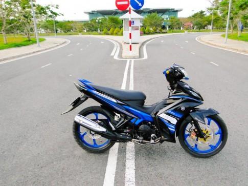 Exciter xanh đen độ đơn giản của biker miền Tây