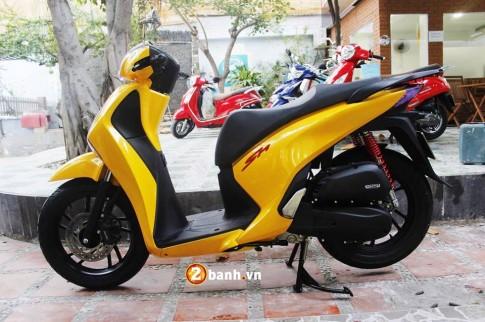 Honda SH phong cách với màu vàng Lamborghini