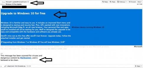 Cẩn thận virus giả mạo Windows 10 khi tải