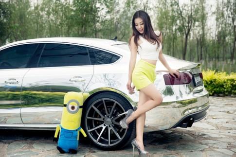 Ngắm vẻ đẹp căng tràn của thiếu nữ bên Audi A5