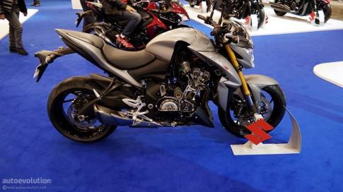 Can canh Suzuki GSX-S1000 trong trien lam moto