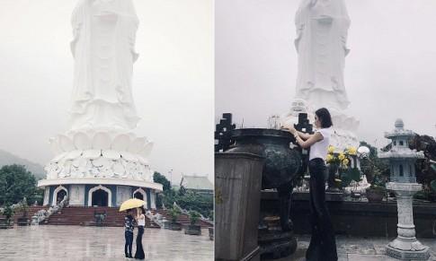 Angela Phương Trinh lại tiếp tục gây bão khi post ảnh lên chùa