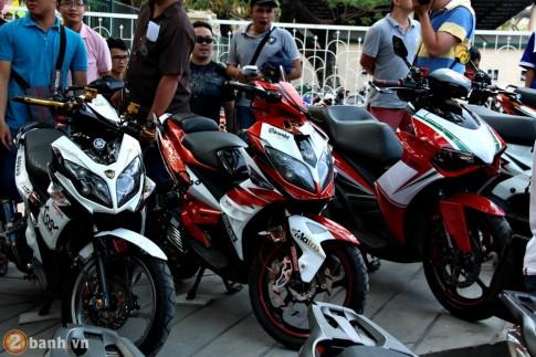 Bộ 3 Yamaha Nouvo tại lễ hội xe tay ga