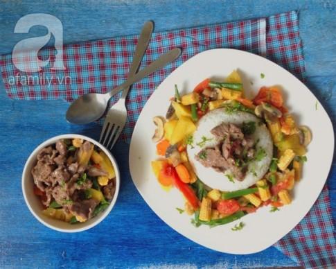 Bò xào rau củ siêu tốc cho bữa tối