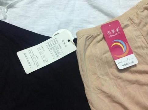 Cách nhận biết quần áo Trung Quốc nhiễm độc