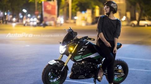 Cận cảnh Honda MSX 125 độ đầy phong cách của nữ bike Hà Thành