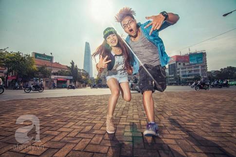 """Cặp đôi """"check in"""" mọi lúc và bộ ảnh cưới xuyên Việt chụp trong 8 ngày"""