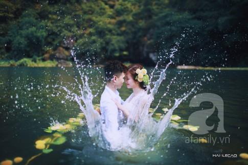 """Chuyện tình """"hỏa tiễn"""" và bộ ảnh cưới dưới nước đẹp lịm tim của cặp đôi Hà thành"""