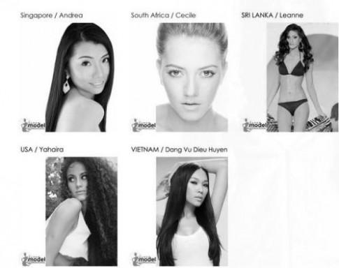 Diệu Huyền dự thi Siêu mẫu quốc tế 2013