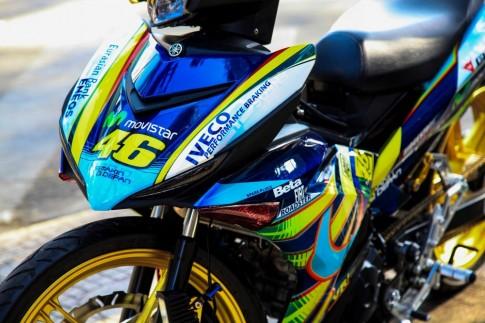 Exciter 150 độ phong cách Rossi của biker Thái Nguyên
