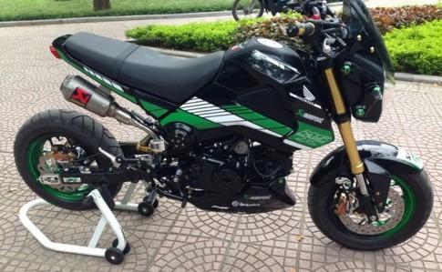 Honda MSX 125 lên đồ chơi khủng của biker Hà Thành