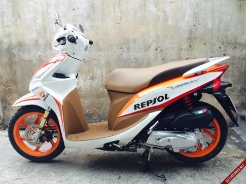 Honda Vision độ phong cách Repsol