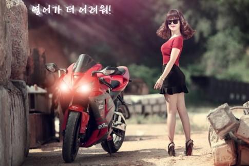 Hot Girl Tuyên Quang đọ dáng cùng Honda CBR600RR 2008