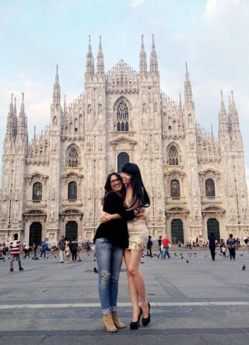 Jessica Minh Anh dự tuần lễ thời trang Italy