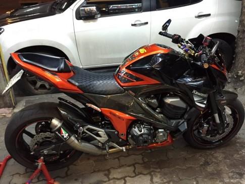Kawasaki Z800 độ hầm hố khoe dáng tại Thái Lan
