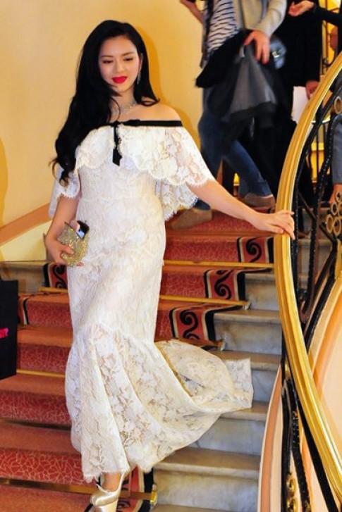 Lý Nhã Kỳ diện váy 2 tỷ đồng đến thảm đỏ Cannes