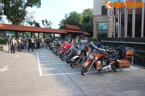 Ngắm dàn xe khủng Harley-Davidson hội tụ tại Hà Nội