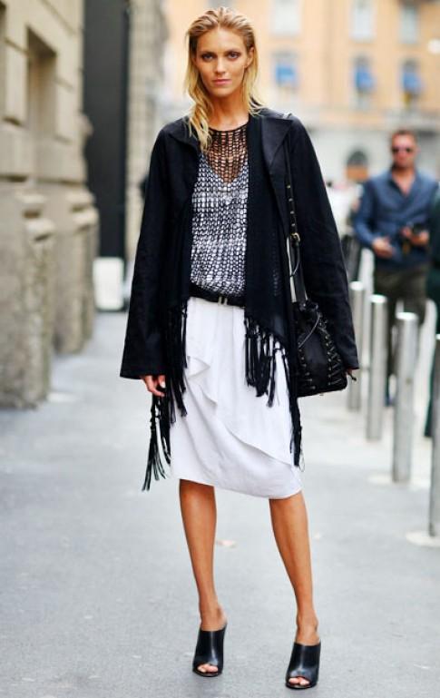 Người mẫu khoe street-style hút mắt ở tuần thời trang