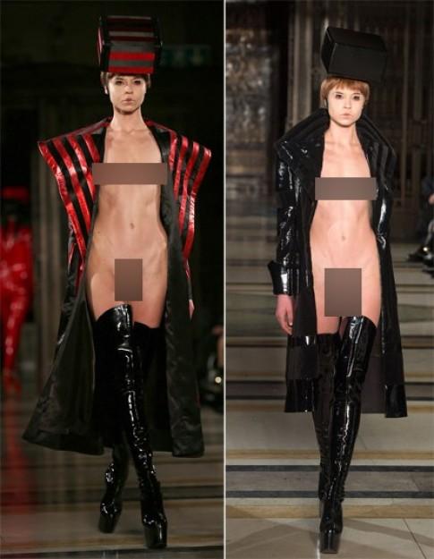 Người mẫu phơi mình trần tại Tuần Thời trang London