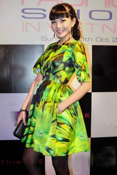 Phan Như Thảo nổi bật với váy in họa tiết